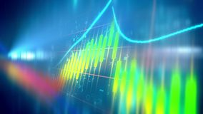 Colorful business line chart Stock Photography
