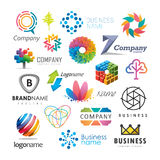 Colorful business logos. A collection of various colorful creative abstract business logos Stock Images