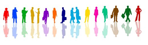 Colorful business people 1 Royalty Free Stock Photos