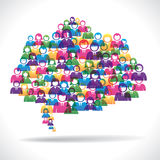 Colorful business people communication concept Royalty Free Stock Photos