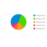Colorful business pie chart for graphic design, documents, reports and presentations. Vector illustration. Colorful Business Pie Chart for Your Documents Royalty Free Stock Photos