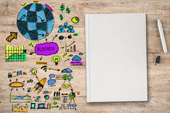 Colorful business plan Royalty Free Stock Photography