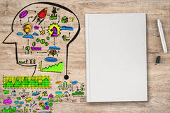Colorful business plan Royalty Free Stock Images