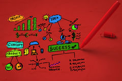 Colorful business plan Stock Images
