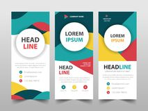 Colorful business Roll Up Banner flat design template ,Abstract Geometric banner template Vector illustration set, royalty free stock photos