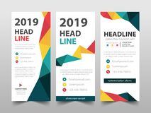 Colorful business Roll Up Banner flat design template ,Abstract Geometric banner template Vector illustration set, abstract royalty free stock images
