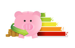 Colorful business savings graph. Illustration design over a white background Stock Photography