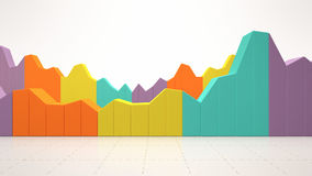 Colorful business statistics Royalty Free Stock Images