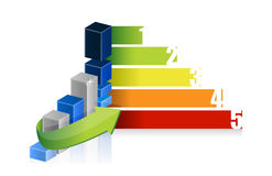 Colorful business success graph Royalty Free Stock Image