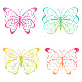 Colorful butterflies. The set of four colorful butterflies Stock Photography