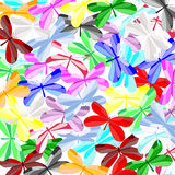 Colorful butterflies. Vector illustration of colorful butterflies mix Stock Photo