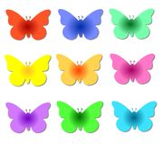 Colorful Butterflies Stock Photos
