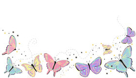 Colorful butterflies abstract spring Stock Images