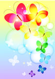 Colorful butterflies flying Stock Photo