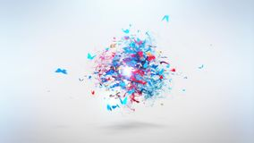 Colorful butterflies flying and circling. stock footage