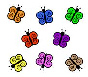 Colorful butterflies illustration stock image