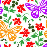 Colorful butterflies pattern Stock Photo