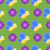 Colorful butterflies seamless pattern decorative pattern summer free fly beauty insect decoration vector illustration. Royalty Free Stock Images