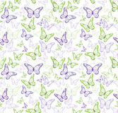 Colorful Butterflies Seamless Pattern Stock Photo