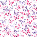 Colorful Butterflies Seamless Pattern Royalty Free Stock Photography