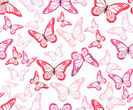 Colorful Butterflies Seamless Pattern Royalty Free Stock Images