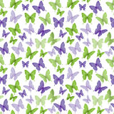 Colorful Butterflies Seamless Pattern royalty free illustration
