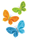 Colorful butterflies - set of 3 Stock Photos