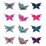 Colorful Butterflies Set Stock Image