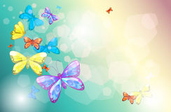 Colorful butterflies in a special paper Royalty Free Stock Photos