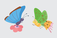 Colorful butterflies vector. Royalty Free Stock Photos