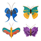 Colorful butterflies vector. Stock Photos