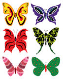 Colorful butterflies vector set Stock Photos