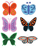 Colorful butterflies vector set Stock Image