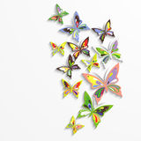 Colorful butterflies in the wave form design. Royalty Free Stock Photos