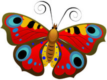 Colorful Butterfly. This is an original hand-made illustration of a pretty colorful butterfly. It's available in vector format which means it's scalable at any Royalty Free Stock Photography
