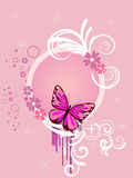 Colorful butterfly. Illustration of colorful floral elements, flowers and butterfly Royalty Free Stock Photos
