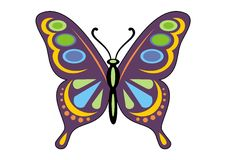 Colorful butterfly Stock Image