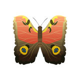 Colorful butterfly with abstract decorative pattern summer free fly present silhouette and beauty nature spring insect Stock Photo