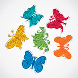 Colorful butterfly. Colorful abstract butterfly stock Royalty Free Stock Photo