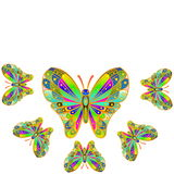 Colorful butterfly as background  with text copy space Stock Photo