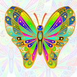 Colorful butterfly. As background for web design art card banner and other background royalty free illustration