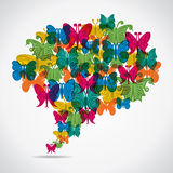 Colorful butterfly. Background  illustration Royalty Free Stock Image