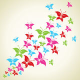 Colorful butterfly background Stock Image
