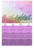 Colorful butterfly calendar. Colorful sky with butterfly calendar 2016 Royalty Free Stock Images