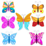 Colorful butterfly collection Stock Photo