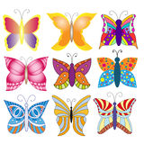 Colorful butterfly collection Royalty Free Stock Photo