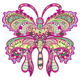 Colorful butterfly, decorative ornament. Stock Images