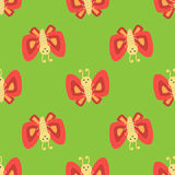 Colorful butterfly decorative seamless pattern vector graphic summer free fly present illustration. Stock Photos