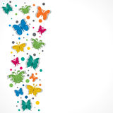 Colorful butterfly. And dot background Royalty Free Stock Images