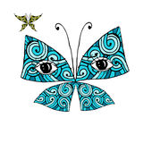 Colorful butterfly with eyes for your design Royalty Free Stock Images
